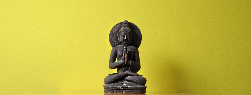 Ruhender Buddha als Statue.